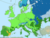 Climate model in Europe