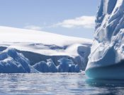 textured blue icebergs