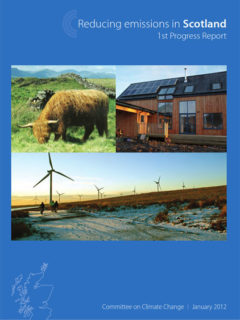 Reducing emissions in Scotland - 1st progress report