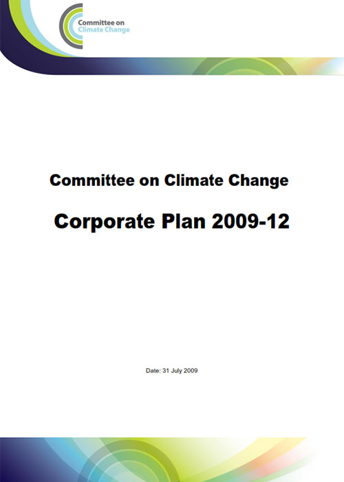 Committee on Climate Change Corporate plan for 2009 to 2012