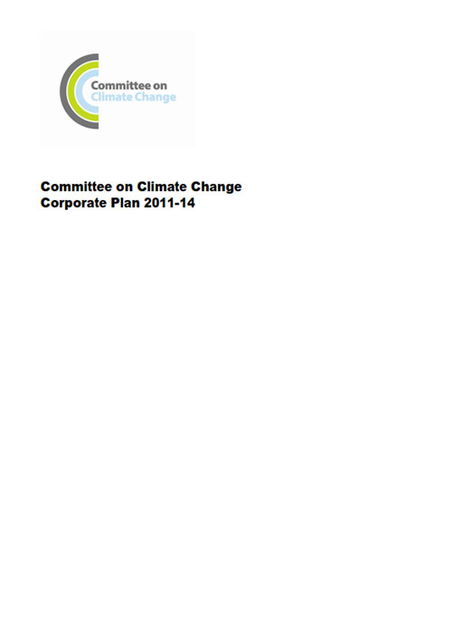 Committee on Climate Change Corporate plan for 2011 to 2014