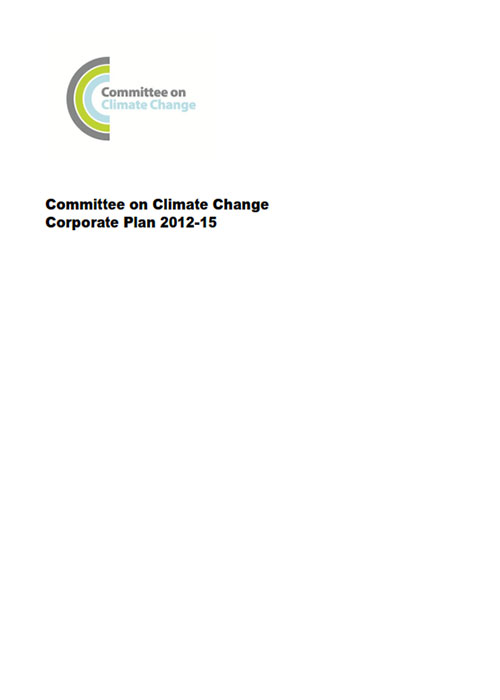 Committee on Climate Change Corporate plan for 2012 to 2015
