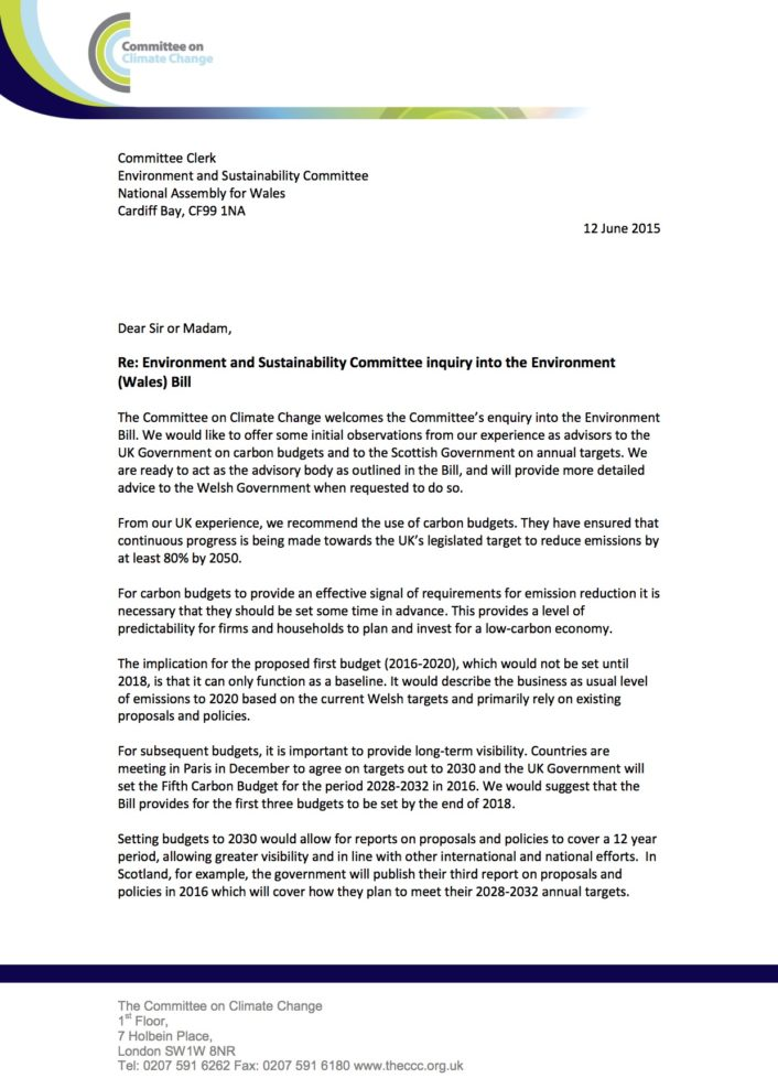 Letter: Environment and Sustainability Committee inquiry ...