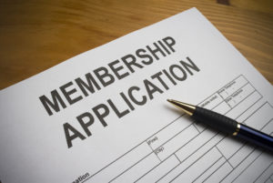 Picture of a membership application form