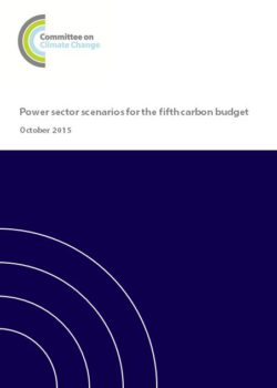 Power sector scenarios for the fifth carbon budget