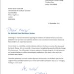 Letter from ASC on flooding