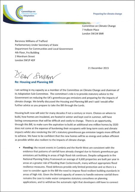 Letter to Susan Williams