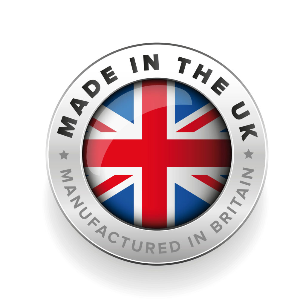 Made in the UK. Manufactured in Britain