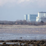 Somerset, UK - February 28, 2016: Hinkley Point Nuclear Power Station Somerset, UK. Construction site of new nuclear power station project (Hinkley Point C).
