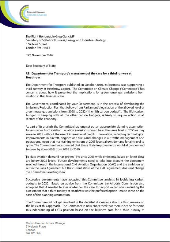 letter-to-greg-clark-on-aviation-emissions