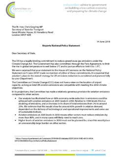 DfT letter