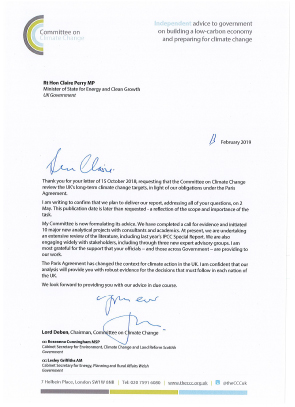 Letter from Lord Deben to Claire Perry MP