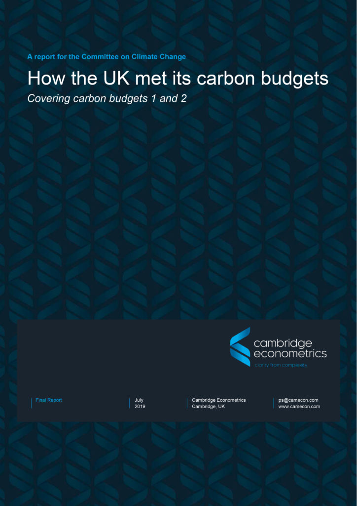 How the UK met its carbon budgets